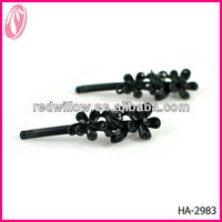 Simple Hair Clip Black Metal Hair Stick For Russian Women