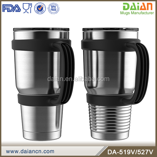 OEM stainless steel double insulated tumblers with handle