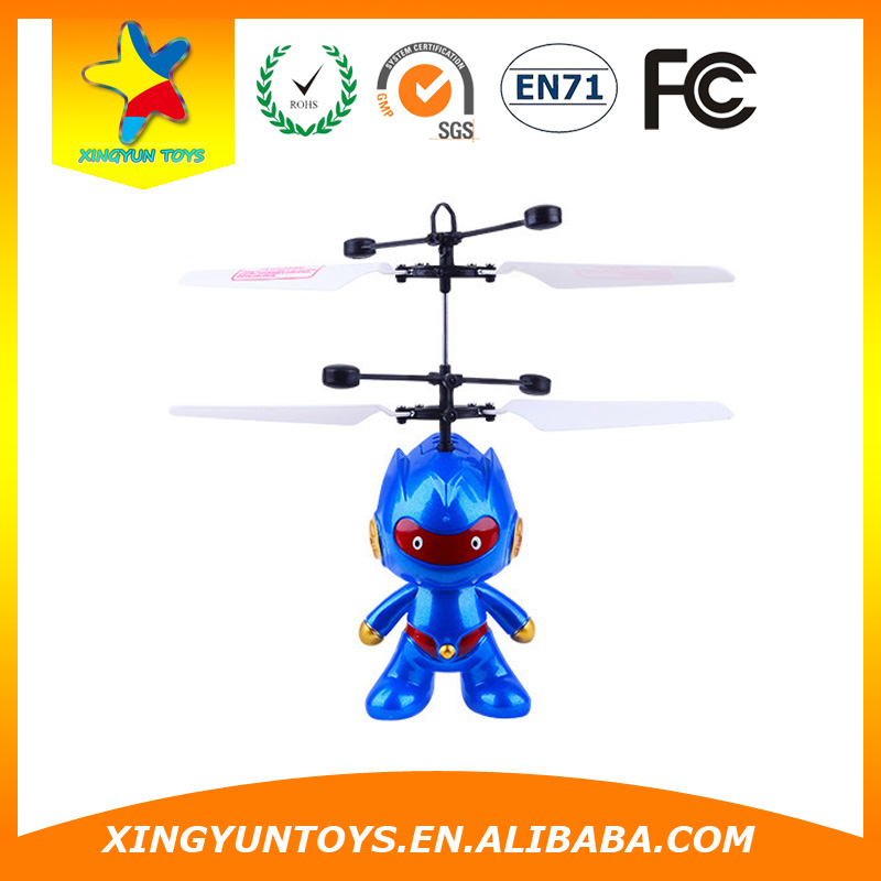 RC Flying Robot Toy With LED Light Flying Toy Robot Flying Doll New Flying Toys For Adults New Flying Robot