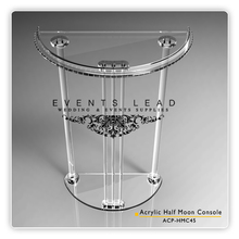 Wedding Clear Plastic Console Table