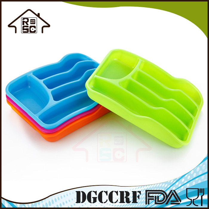 Plastic Cutlery Tray / Drawer Organizer / Silverware Storage