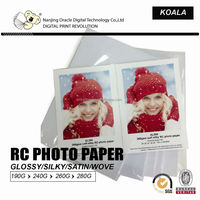 240g/260g waterproof inkjet matte/glossy resin coated rc photo paper