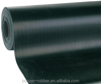 3mm fine ribbed anti-slip floor rubber flooring sheets for industrial