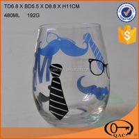 Decal glass cup wine glass drinkware