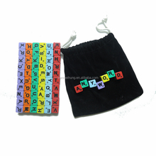 plastic printed colored capital letters alphabet dice