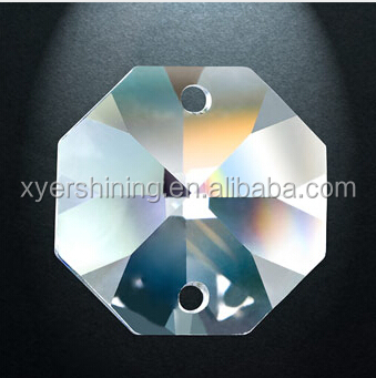 Crystal Octagon beads for chandelier part