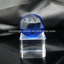decorative blue color crystal ball