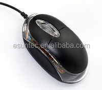 Promotional Transparent Small Wired 3D USB Optical Mouse ,M-001B