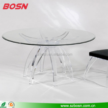 round clear acrylic dining table perspex dining table