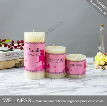 Cheap white scente pillar candle in different sizes buy for Different brands of candles