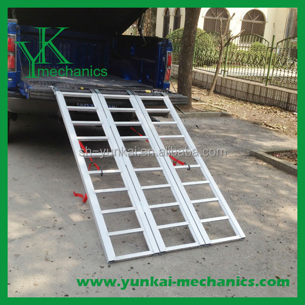 In stock aluminum atv parts foldable ramp for atv parts