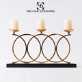 home decorative artificial neoclassical modern metal three head candle holder
