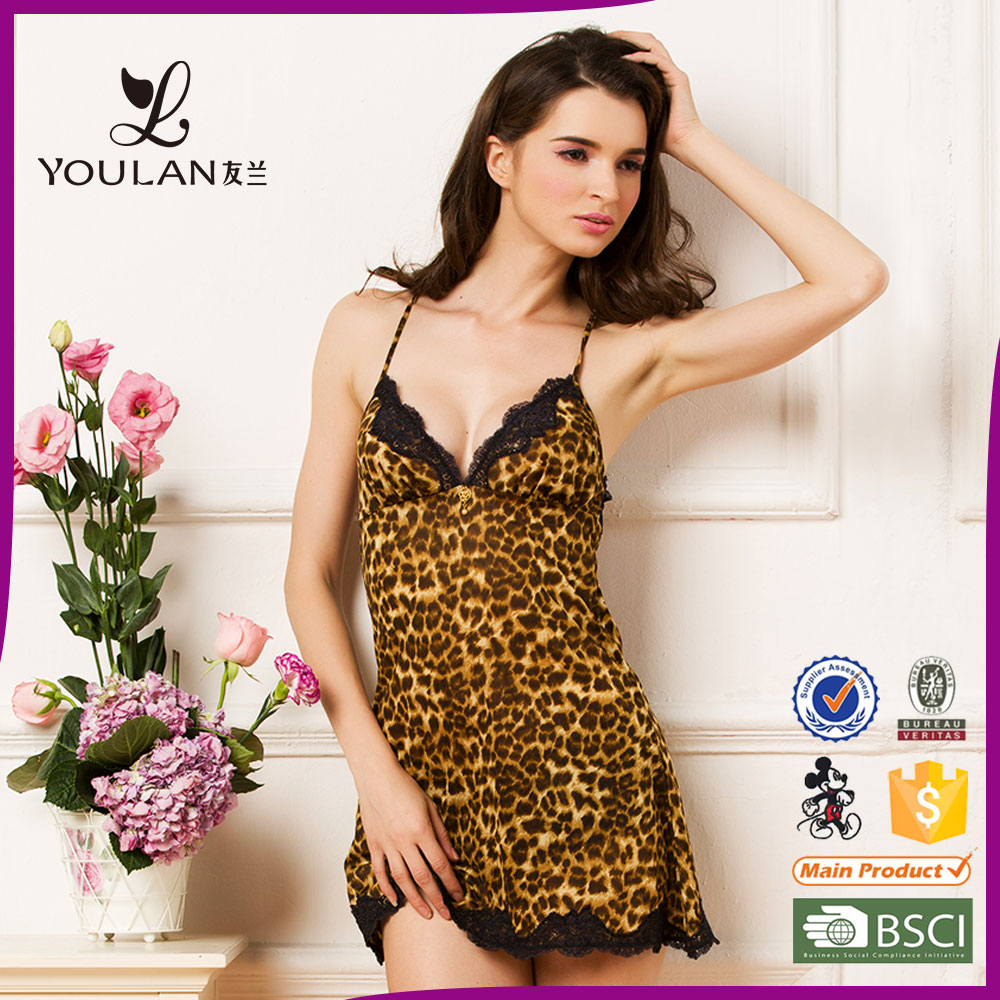 Very sexy Leopard lace ladies adult teddy sexy lingerie