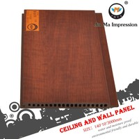 Dark Brown Wood Plastic Composite WPC Interior Wall Panels Architectural