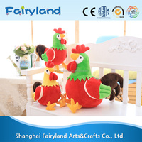 Latest design new year gift colorful chicken stuffed plush toy