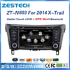 ZESTECH 2 din car headunit for Nissan X-Trail 2014 car dvd players fm radio with usb, sd, swc, bt, 3G, gps satellite map