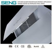 wall mounted exhaust fan white glass european style kitchen range hood