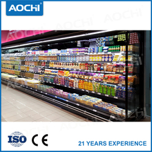 Commercial dairy product supermarket display cooler showcase refrigerator refrigeration for sale
