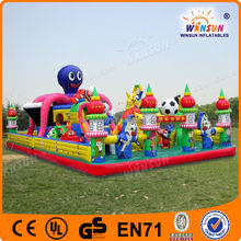 commercial big inflatable fun city with slide/inflatable climbing sports