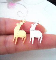 Wholesalers Lovely Silver Gold Plated Animal Deer Necklaces Stainless Steel Jewelry Friendship Birthday Gifts Options