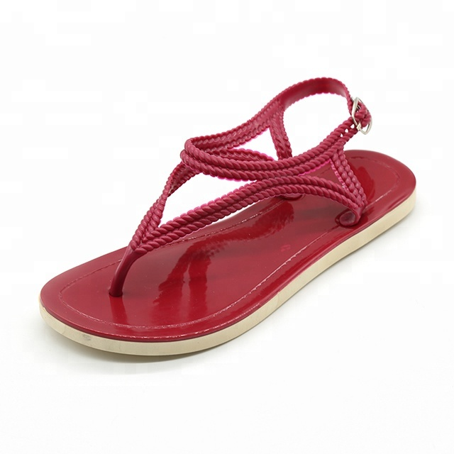 Hemp Rope Custom Logo Private Label China Factory PVC PCU <strong>Sandals</strong> for Girls