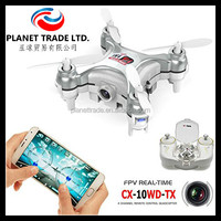 Silver color Cheerson CX-10WD-TX height hold RC Quadcopter Mini 2.4G 4CH 6 Axis Gyro Drone