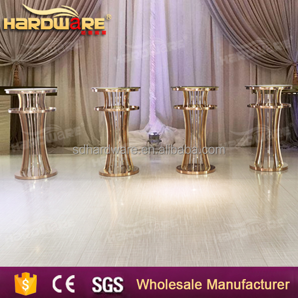 stainless steel stand up bar table set made in foshan