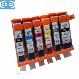 refill ink cartridge for canon ix6560 for canon PGI725 CLI726 inkjet cartridge