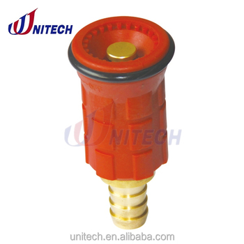 plastic and brass nozzle for fire hose