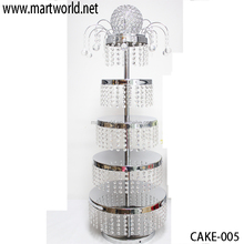 2017 Hot cake stand with crystal hanging beads 5-tier crystal cake stand cake decorations wedding decorations party (cake-005)