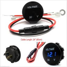Blue LED Digital Display 0-30V Auto Car Voltmeter Voltage Gauge Meter Waterproof