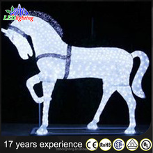 Shopping center acrylic running horse christmas decorative light