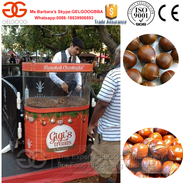 Hot Sale Chestnut Roaster/Roasting Machine/Chestnut Frying Machine with Automatic Rolling and Mixing