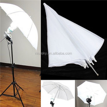 "43"" Inch 110cm Studio Reflector White Soft Diffuser Umbrella for Photo"