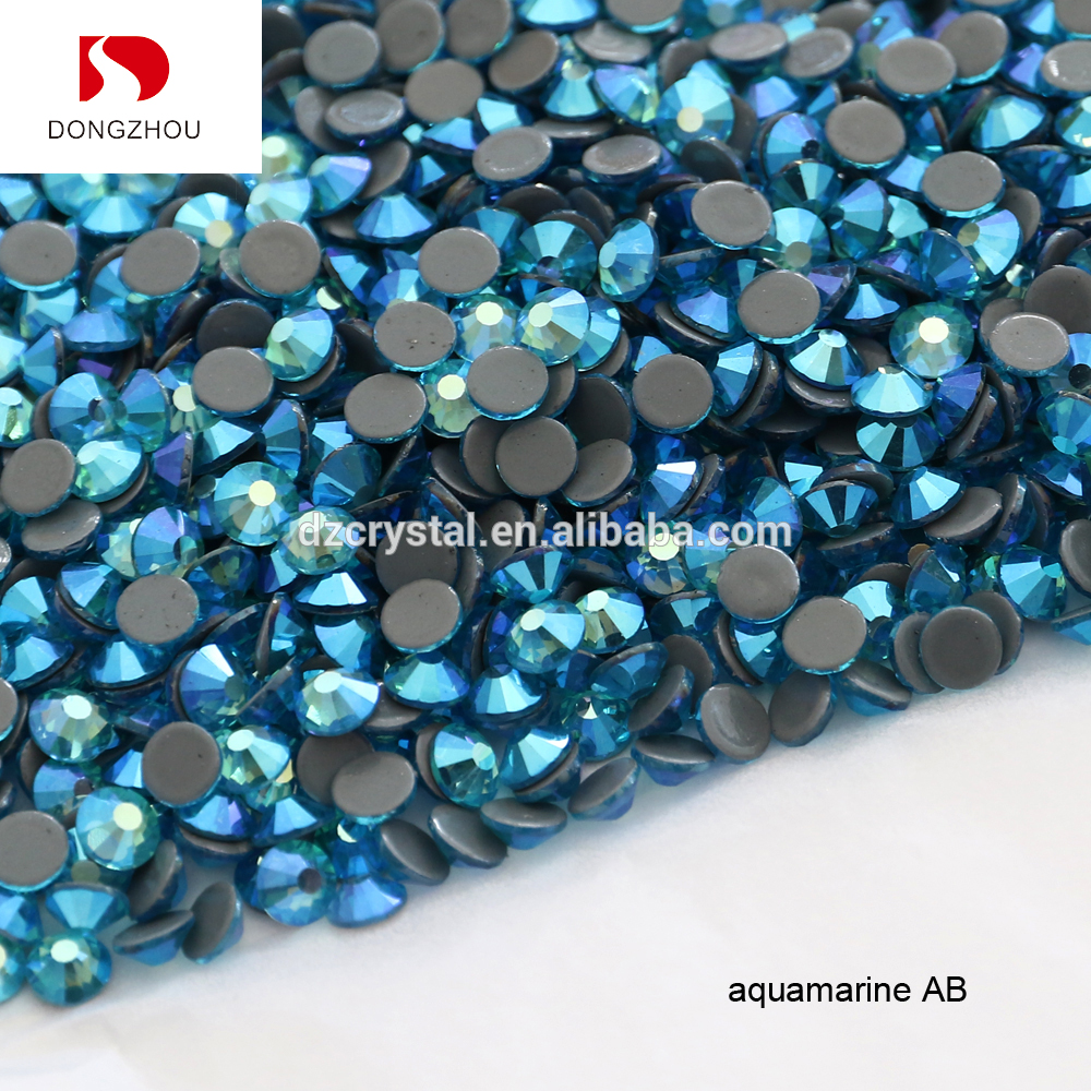 Wholesale Aquamarine AB Color HotFix <strong>Crystal</strong> Rhinestone For Clothing