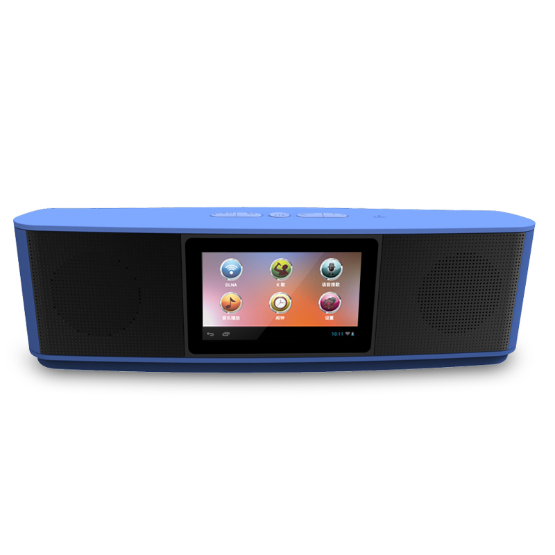 mini Bluetooth Speaker V3.0 TF Card AUX Audio Touch Screen