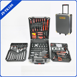 186 pcs tool set in aluminum briefcase tool box with drawers ITEM NO:JX-TK186