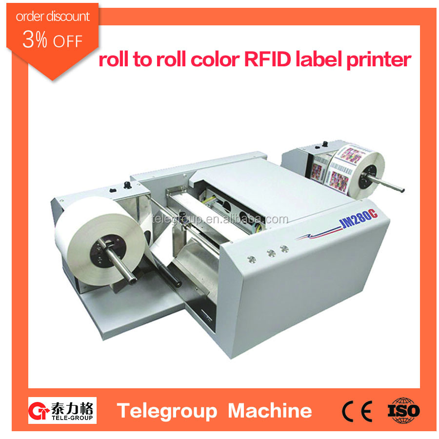 High speed roll to roll full color digital label printer