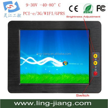 15 inch rugged vehicle industrial panel pc