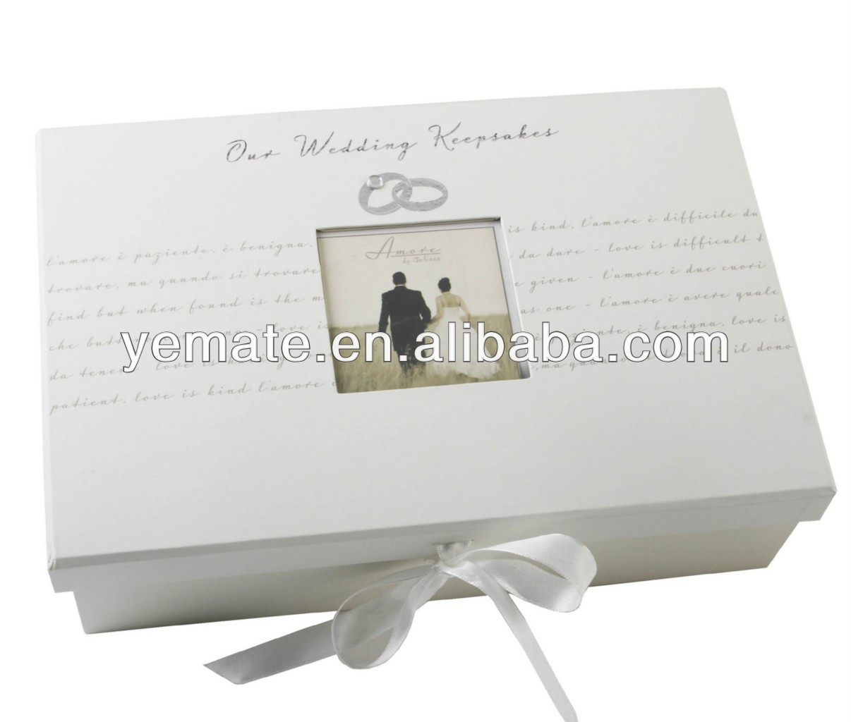 2013 new style high quality satin lined white gift boxes,handmade paper gift boxes market tray gift boxes with ribbon bow