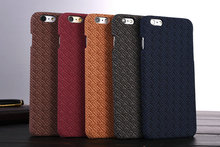 Hot Sale Newest Wool Sweater Knit Grid Stripe Pattern PP Cases for iPhone 6 6S 4.7 inch Slim Fit Fundas Capa Phone Cover 5 Color