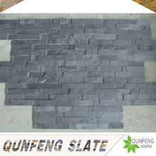 high quality split mushroom surface finishing and cut-to-size stone form black stacked stone flexible slate