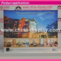 Fabric Pop Up Display Banner stand with 2pcs halogens light or LED lights