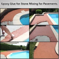 Epoxy Resin AB Glue for Crushed Pebble Stones Mixing for Walkingways