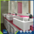 Luxury Grace lower price double bathroom sink laminate countertop