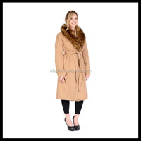 Luxury Women Belted Long Winter Fur Coat