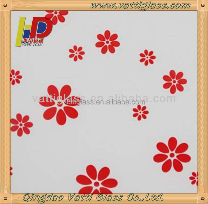 handmade wall decor glass painting pictures of flowers