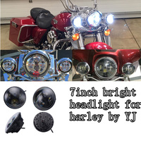 Hot sale 7'' high low beam led headlight high quality motorcycle led head light for jeep 60w 7'' for harley