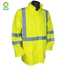 High visibility safety rain jacket coat