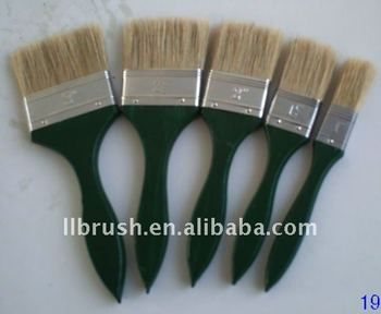 The Middle East hot sell Green color wooden handle/nature bristle paint brush/painting brush